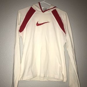 White & Red Nike Sweatshirt